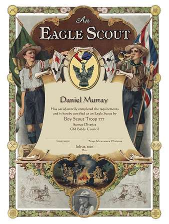 Scouting eagle scoutmaster hornaday powder horn for Eagle scout certificate template