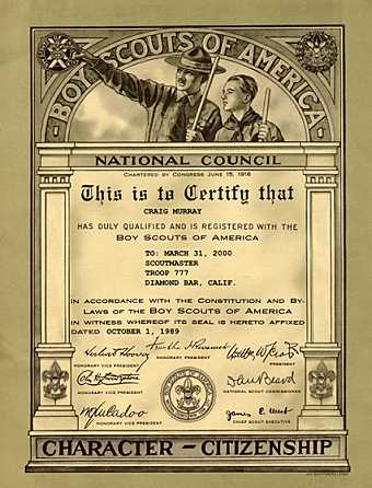 Scouting eagle scoutmaster hornaday powder horn recognition hoover certificate 2 yelopaper Choice Image